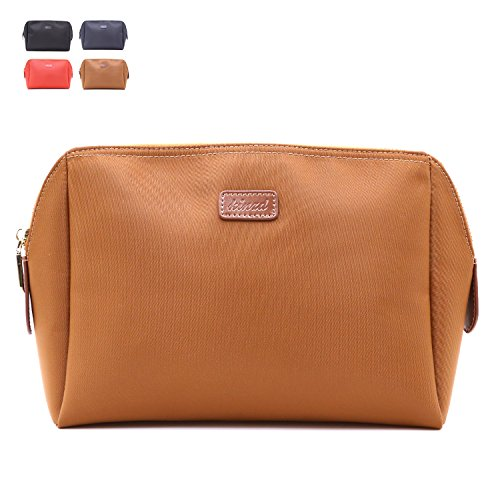 Makeup Bag For Women Cosmetic Pouch Storage Toiletry Travel Accessories Organizer (Brown-large)