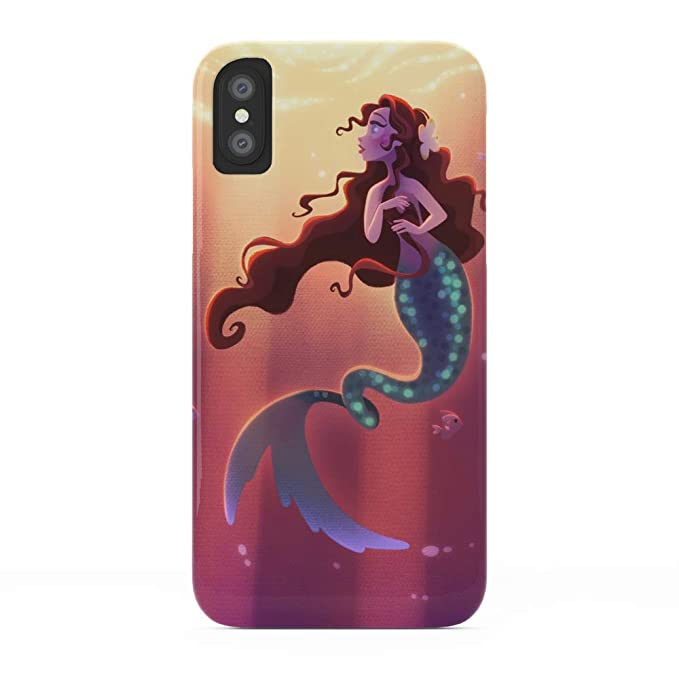 buy popular 04524 4912f Amazon.com: Society6 iPhone X Cases, Featuring Mermaid with Twisty ...