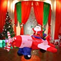 Tangkula Giant Christmas Inflatable Santa Claus