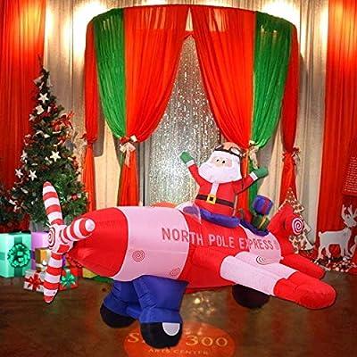 Tangkula Giant Christmas Inflatable Santa Claus