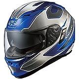 オージーケーカブト(OGK KABUTO)バイクヘルメット フルフェイス KAMUI2 STINGER (スティンガー) ブルーホワイト (サイズ:L)