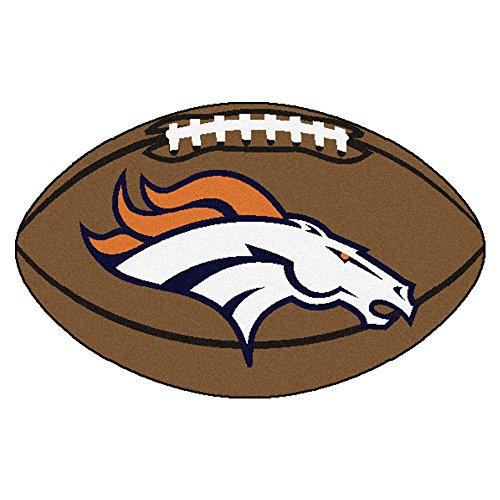 Fanmats NFL Denver Broncos Nylon Face Football (Denver Broncos Rug)