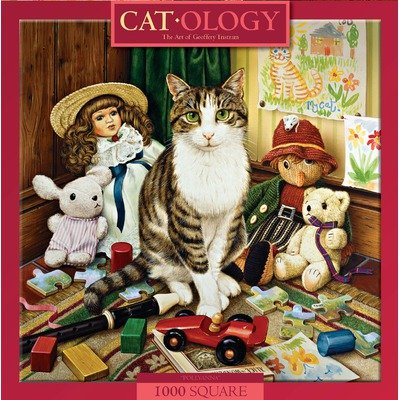 MasterPieces Cat-O-Logy Pollyanna Jigsaw Puzzle, Art by Geoffrey Tristram, 1000-Piece