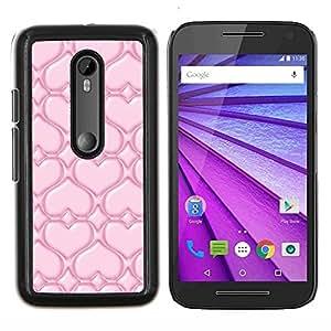 "For Motorola MOTO G3 ( 3nd Generation ) , S-type Pink Love"" - Arte & diseño plástico duro Fundas Cover Cubre Hard Case Cover"