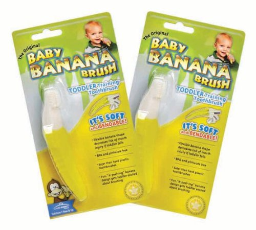 Baby Banana Brush The Original Toddler Toothbrush, 2 Piece