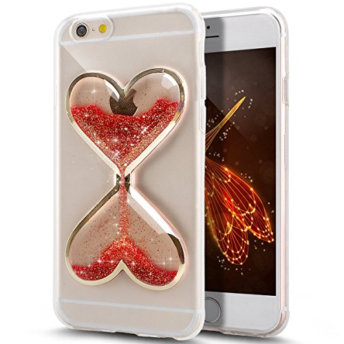 Price comparison product image UCLL Iphone 5/5S/SE Case,Time hourglass Design Case for Iphone 5/5S/SE with a Screen Protector (Red)