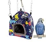 Bird Nest Hammock Tent Bed Toy for for Pet Parrot Budgie Parakeet Cockatiel Conure Cockatoo African Grey Amazon Eclectus Lovebird Hamster Chinchilla Guinea Pig Ferret Squirrel Cage Swing