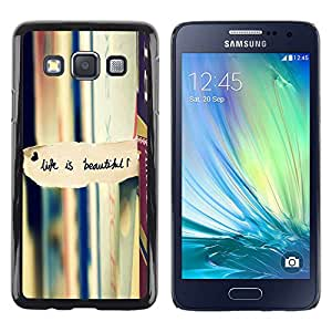 Stuss Case / Funda Carcasa protectora - Life Is Beautiful Books Reading Text - Samsung Galaxy A3 SM-A300