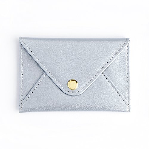 Royce Silver Genuine Leather Envelope Card Case 425-SILVER-5