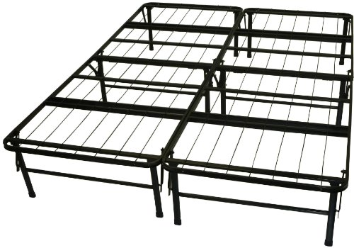 DuraBed Steel Foundation & Frame-in-One Mattress Support System Foldable Bed Frame, Queen-size -