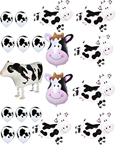 Agreatca Cow Balloons Party,Farm Animal Cow Theme Birthday Party Supplies Birthday BBQ Party Decorations.]()