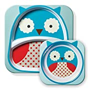 Skip Hop Baby Plate and Bowl Set, Melamine, Owl