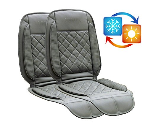 TWO PACK of Viotek Heated and Cooled Seat Cushions - Featuring Tru-Comfort Auto Heating and Cooling Climate Control (gray)
