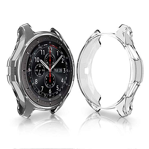 KTcpt for Samsung Galaxy Watch 46mm/Gear S3 Case, Soft TPU Plated Case Protector Bumper Compatible Samsung Gear S3/Galaxy Watch 46mm SM-R800 ()