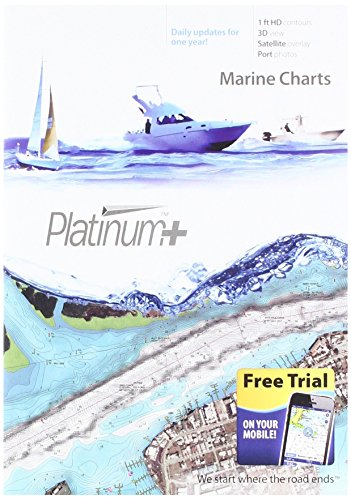 Navionics Platinum+ SD 651 Central Gulf of Mexico Nautical Chart on SD/Micro-SD Card - (Navionics Platinum Charts)