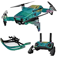 MightySkins Skin for DJI Mavic Air Drone - Watercolor Blue | Max Combo Protective, Durable, and Unique Vinyl Decal wrap cover | Easy To Apply, Remove, and Change Styles | Made in the USA