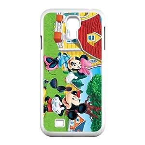 MICKEY MOUSE 005 funda Samsung Galaxy S4 9500 funda teléfono celular de cubierta blanca, funda de plástico caja del teléfono celular