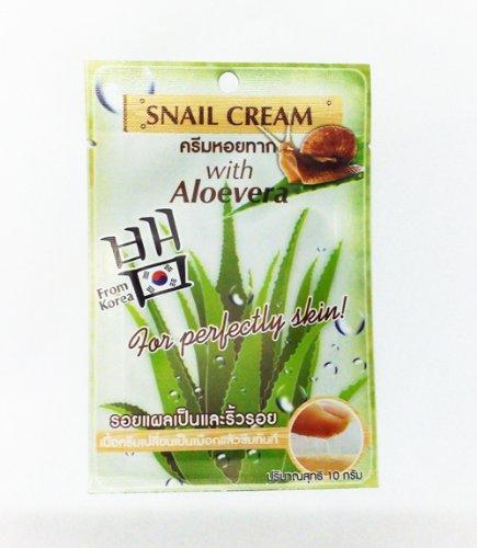 Fuji Snail Recovery Gel Cream with Aloe vera Reduce scar 10g.1 Box (1 x 6 Sachets)