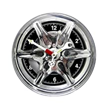 """StealStreet SS-KD-1410 Car Hub Cap Wall Clock with Wrench and Screw Driver Hands, 10.5"""""""