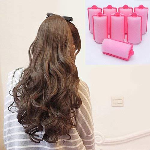 bolsa Magic Sponge Foam Cushion Hair Styling Rollers Curlers Twist Tool Wacemak1r 12 piezas