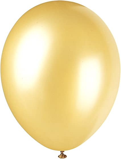 """8 x Pearlised Champagne Gold 12/"""" Latex Balloons Helium Party Decoration Supplies"""