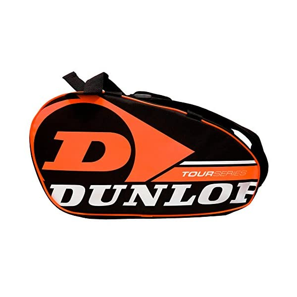 Dunlop - Borsa per racchette da paddle Tour Intro Nero/Arancione Fluo 2 spesavip