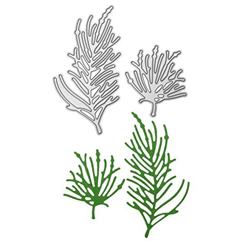 Whitelotous 2pcs Seaweed Die Cut Cutting Dies Stencils Embossing DIY Craft for Scrapbook Photo Album Paper Cards Gift
