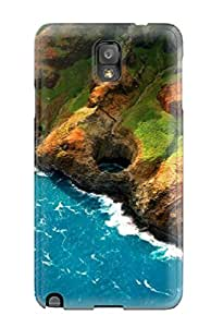 New Snap-on Wesleabill Skin Case Cover Compatible With Galaxy Note 3- Sea Mountains