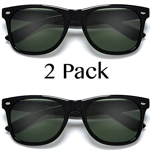 UV Ray Protection Black G-15 Polarized Sunglasses 2 Pack