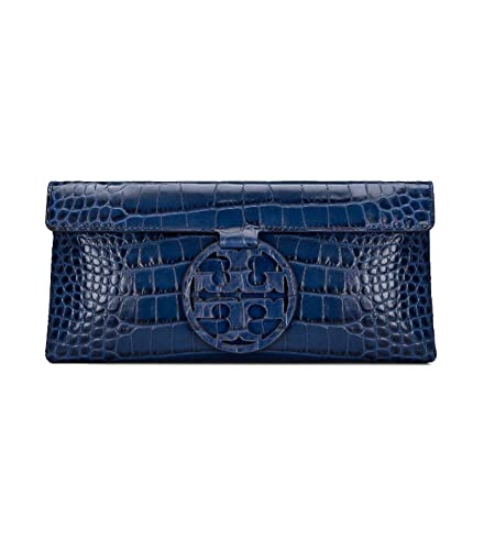 2a7503c0d3c Tory Burch Miller Leather Clutch (Tory Navy)  Amazon.ca  Shoes ...