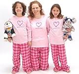 Bubblegum LYF Heart Pink Shirt Pant Pajamas Set - Adult X-Large, L/S, GUM Plaid Pants (122)