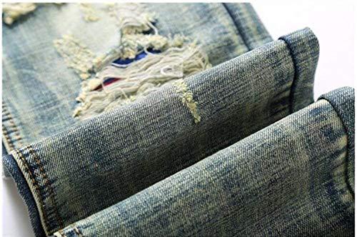 Ssig Jeans Blau Alla Self Uomo Classici Denim Da Abbigliamento Cowboy Straight Moda Ne cultivings qxtgT
