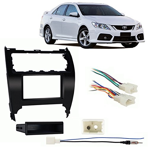 (Fits Toyota Camry 2012-2014 Single DIN Stereo Harness Radio Install Dash Kit)