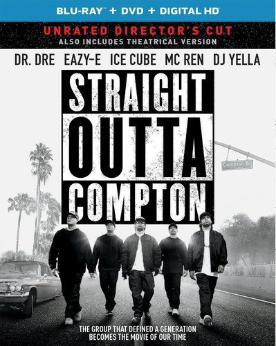 Straight Outta Compton (Blu-ray + DVD + DIGITAL HD with Ultraviolet)]()