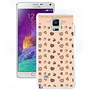 Dessert Patterned Background (2) Hard Plastic Samsung Galaxy Note 4 Protective Phone Case