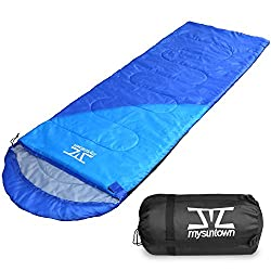 mysuntown Weather Sleeping Bag - Waterproof & Lightweight Camping Sleeping Bag for Women Men Adults Kids