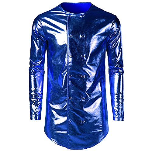 (Mens Shirt Fitfulvan Bright Face Painted T-Shirt Front Rear Double Button)