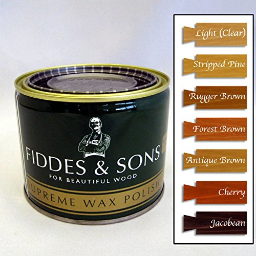 Fiddes & Sons Furniture Supreme Wax Polish - Forest Brown