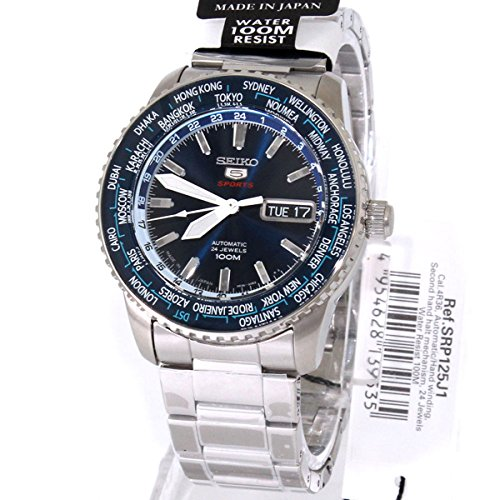 Seiko 5 Men's Sport Automatic 24jewels Blue Dial Stainless Steel (5 Sports Automatic Blue Dial)