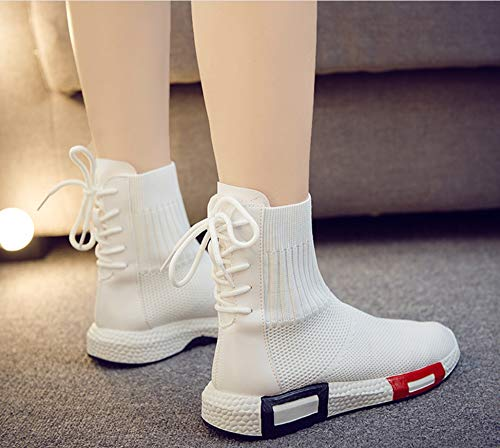 Zapatos Altas Caminan Que Superiores De Zapatillas Moda Mujeres La Ligero Transpirables Funcionamiento Deportivas Las Respirables Blanco Ocasionales Deporte wgdp6d