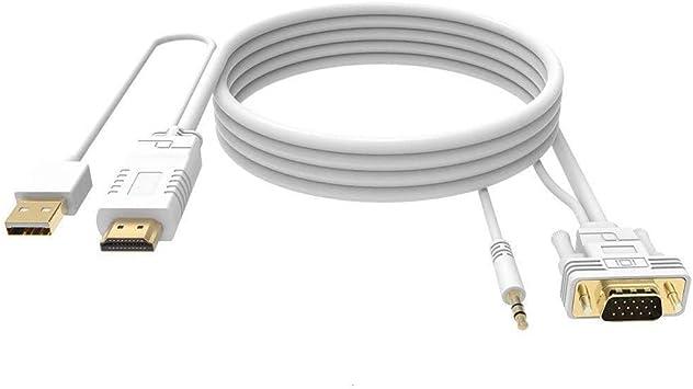 FOINNEX Cable HDMI a VGA 3M con Audio, Activo Hacer Adaptador ...