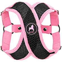 Gooby Choke Perfect Fit Active X Step-In Synthetic Lambskin Soft Harness for Dogs, Small - Pink