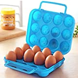 GKP Products ® Portable Folding Plastic Egg Carrier Holder Storage Container for 12 Eggs