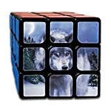 AVABAODAN Wolf In The Winter Rubik's Cube 3D Printed 3x3x3 Magic Square Puzzles Game Portable Toys-Anti Stress For Anti-anxiety Adults Kids