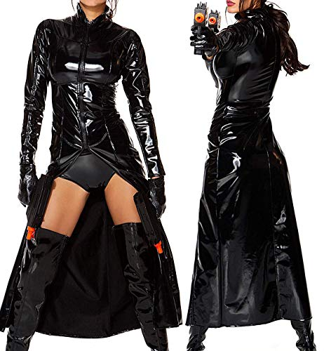 Matrix Trinity Costume Women | Matrix Morpheus Coat Black -