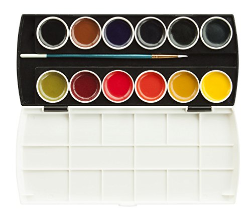 - Jack Richeson Set of 12 Semi Moist Watercolors with Brush