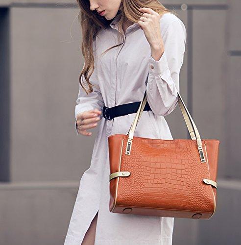 Lisa Girl Medium para Piel Naranja de mujer Bolso E al hombro F0qFYd