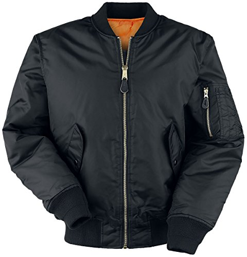 Military Flyers Jacket (Brandit Men's MA1 Jacket Black Size 3XL)