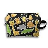 DE9hd Cosmetic Bags Cute Cartoon Animal Unisex Collapsible Storage Bags Multi Purpose Portable Storage Bags