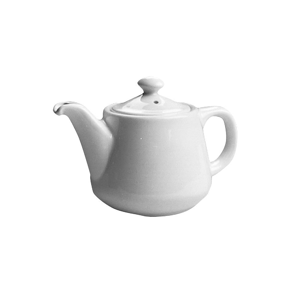 Hall China 2322-WH White 12 Oz. Tea Pot with No Drip Spout - 12 / CS